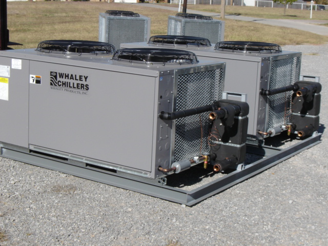 Dry Fluid Cooling Systems : Nae series modular chillers central air cooled